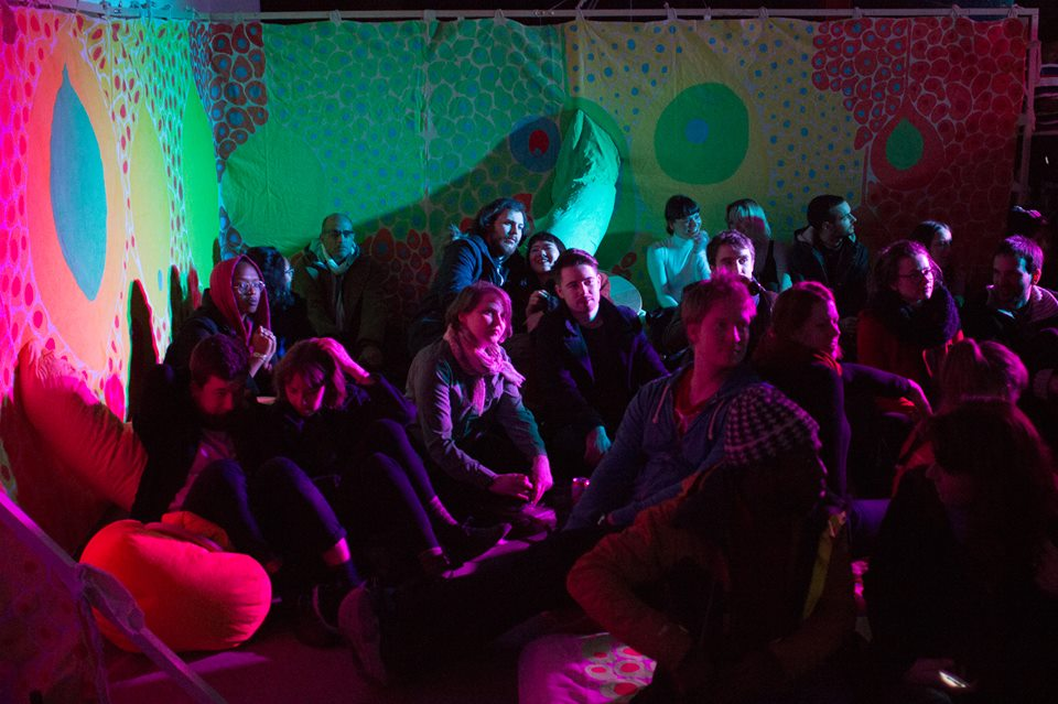 People sitting in 'World of Blub' at the Brainchild 2016 launch